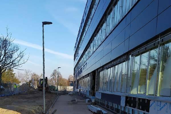 Postęp prac – hala magazynowa Dachser w Sosnowcu k/Strykowa.